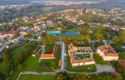 360° Luftaufnahme Burgau